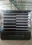 Supermercado Multideck refrigerador abierto con capas ajustable