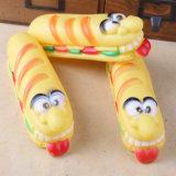 Beste aktive Gummikauen-Cheeseburger-Form-Haustier-Spielwaren für Hunde