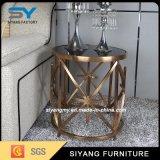 Mesa de centro do lado do aço inoxidável da mobília do espelho