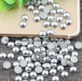 La perla de plata del clavo alrededor de la imitación del ABS del arte aljofara a medias la decoración del clavo de los granos DIY del libro de recuerdos (el rhinestone del clavo de la TP-plata)