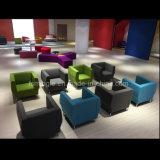 Mobiliário de escritório moderno Tecido confortável sofá de madeira de Lazer