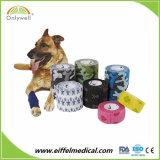 高品質の通気性のFlexableの凝集の非編まれた獣医の包帯