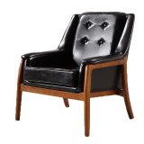 단 하나 가죽 안락 의자, 소파 의자 소품, 산업 작풍 단단한 나무 안락 의자