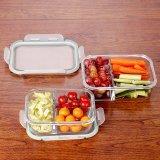 3-Pyrex стекло в салоне питание Prep контейнеров с замка крышки багажника
