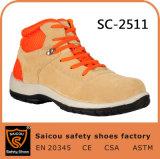 Поставщик Sc-2511 ботинок работы бежевой замши мягкий кожаный удобный