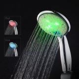 목욕탕 부속품 3 색깔 LED 온도 전시를 가진 소형 샤워 꼭지