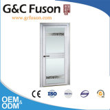Le côté en aluminium en verre givré de G&C Fuson a arrêté la porte