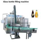Embotelladora de relleno monobloque de cerveza de la botella de cristal del capsulador automático del llenador