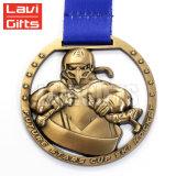 卸し売り新しいデザインカスタム3D旧式な黄銅によってめっきされる記念品の金属のスポーツ賞メダル円形浮彫り