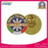 Pin relativo à promoção do Lapel piscar com esmalte do logotipo