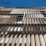 A fresta de sol de alumínio motorizado exterior de fachada do prédio