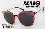 Óculos de sol brilhantes Km17214 do olho de gato da forma
