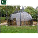 Couvercle en aluminium de plein air Piscine thermale avec toit en polycarbonate