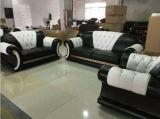 Sofá de couro secional do sofá da sala de visitas com couro italiano