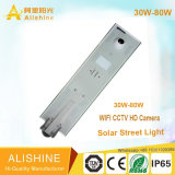 Bright LED Solar Street Light com câmera HD CCTV Wi-Fi