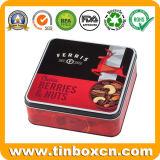 Квадратная коробка олова подарка упаковывая для металла может залуживать контейнер