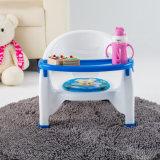 Bebé multifuncional de la cena de alimentación de plástico silla silla con la cubierta delantera