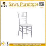 합성 수지 결혼식 Chiavari 도매 명확한 수정같은 의자