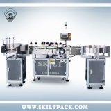 Mercado automático de China da máquina de etiquetas dos frascos redondos de posição vertical