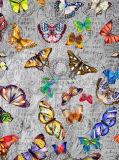 Mola de 2018 Novo Design de borboletas lenço de seda