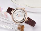 Neue königliche populäre echtes Leder-Quarz-Uhr für Mädchen