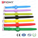 Wristband registrabile della gomma di silicone di prezzi di fabbrica RFID