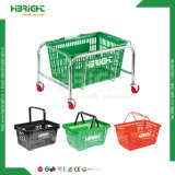 Kundenspezifischer Einkaufskorb-Halter-Standplatz/Korb-Zahnstange