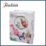 Цветки типа природы & мешок подарка несущей покупкы конструкции Buttlefly бумажный