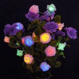 2m 20 luzes feericamente da flor da luz da bateria do diodo emissor de luz Rosa