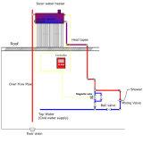Colorir o calefator de água solar pressurizado compato de aço do sistema