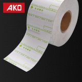 Accepté OEM de ruban de transfert thermique Étiquette de papier autocollant auto-adhésif
