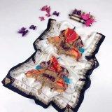 Lenço de seda pura forma de Luxo Senhora Cachecol Xale elegante