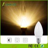 Bombilla de la noche caliente del blanco 2700K 1W LED de C7 E12 Non-Dimmable para las luces de la Navidad