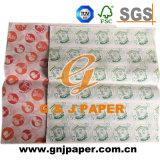Ausgezeichnetes Qualitäts21gsm gedrucktes fettdichtes Verpackungs-Papier für Verkauf