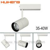 El aluminio ajustable blanca cálida de 35W de luz LED COB vía
