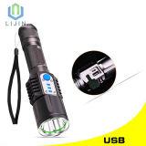 Im Freien intelligente starke Taschenlampe des Licht-LED mit USB-Aufladeeinheits-Schnittstelle