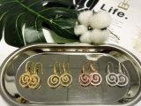한국 작풍 원형 모양 둥근 훅 빛나는 Ziron 돌 귀걸이 백금에 의하여 도금되는 Eardrop
