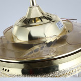 Ventilatore di soffitto decorativo di serie di cristallo alla moda moderna con illuminazione