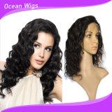 Perruque de lacet de front d'onde de corps des cheveux humains 100