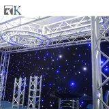 A cortina Twinkling das estrelas da cortina de gota do diodo emissor de luz ilumina o contexto do casamento