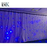 党イベントのための結婚式の星のカーテンLEDの布の背景幕