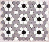 tegel van het Mozaïek van de Honingraat van 23*23mm de Hexagonale Witte Ceramische voor Decoratie