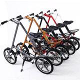 자전거가 16명 인치 Hotwheel 현탁액 아이들 자전거에 의하여 접히고 있다