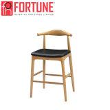Haute qualité en bois tabouret de bar Bistro de chaises en cuir (FOH-BCA76)