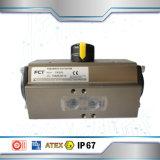 Пневматический цилиндр двойного действия регулятора подачи топлива