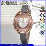 ODM de Polshorloges van de Dames van het Horloge van de Manier van de Riem van het Leer (wy-065D)