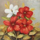 El arte de la pared de flores hechas a mano 100% de la pintura al óleo con Glitter Gloden
