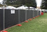 recinzione provvisoria galvanizzata l'Australia di 1800X2400mm con il supporto
