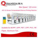 Velocidade média máquina de impressão computarizada do Gravure da folha de alumínio do trilho para o empacotamento flexível