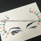 Las etiquetas engomadas pegajosas de los tatuajes del flash del Rhinestone de las gemas de la cara adhesiva del tatuaje de las joyas del festival del partido del brillo temporal de la carrocería para la carrocería componen (S058)